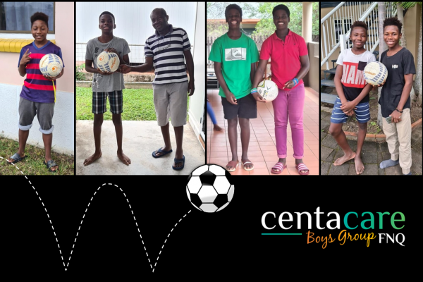 Soccer Challenge Brings a Smile to the Centacare Boys Group